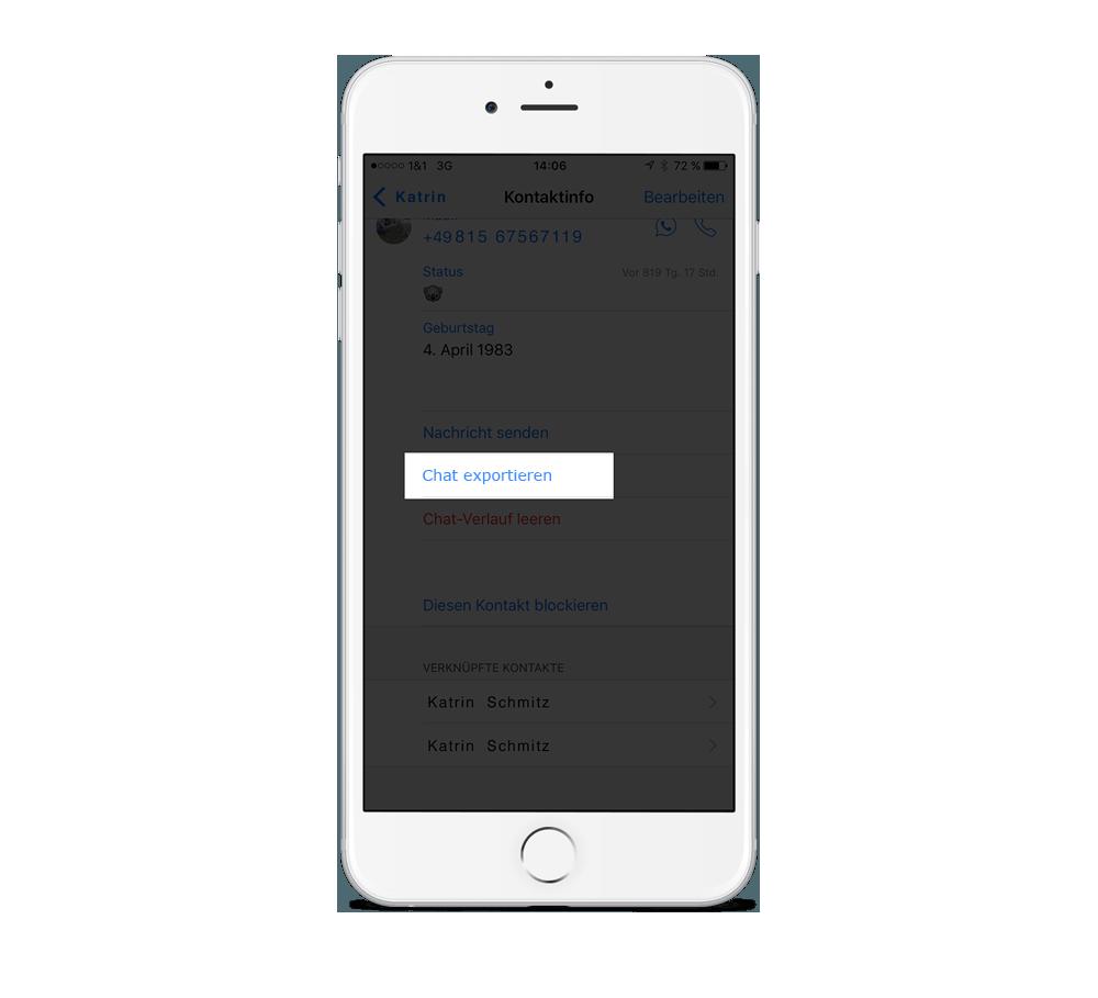Uploading the WhatsApp chat via the web uploader - chatprint